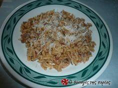Κριθαράκι με κιμά 2 #sintagespareas Pastry Cook, Grains, Dinner Recipes, Rice, Pasta, Cooking, Food, Kitchen, Essen
