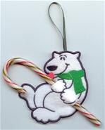 Polar Bear Candy Cane Holder by suesembroidery316 on Etsy