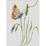 Image of Smell Of Summer Butterfly Cross Stitch Kit