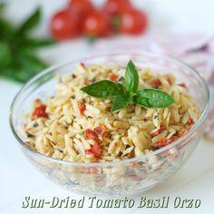 Sun-Dried Tomato Basil Orzo #MyAllrecipes #orzo #sundriedtomatoes #basil #pasta