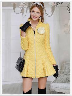 Morpheus Boutique - Yellow Zipper Pleated Lady Long Sleeve Coat, CA$174.34 (http://www.morpheusboutique.com/yellow-zipper-pleated-lady-long-sleeve-coat/)