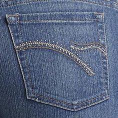Gloria Vanderbilt- -Women's Classic Fit Amanda Sparkle Jeans Jeans Pocket, Sewing Jeans, Denim Skirts, Gloria Vanderbilt, Pocket Detail, Embroidery, Fitness, Model, Pants