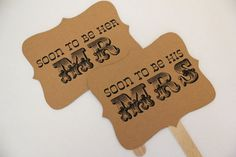 MR and MRS ENGAGEMENT photo props custom signs by sugarplummoose, $9.00