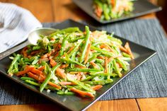 Green Beans and Carrots. Sauteed French cut Green Beans and carrots. A great side dish for Thanksgiving Dinner Bean Salad Recipes, Green Bean Recipes, Veggie Recipes, French Cut Green Beans Recipe, Carrots And Green Beans, Green Bean Salads, Thanksgiving Side Dishes, Thanksgiving Dinners, Green Bean Casserole