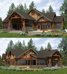 High End Mountain House Plan with Bunkroom - 23610JD | Craftsman, Mountain, Northwest, Vacation, Luxury, 1st Floor Master Suite, Bonus Room, Butler Walk-in Pantry, CAD Available, Den-Office-Library-Study, PDF, Split Bedrooms | Architectural Designs