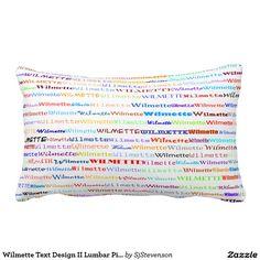 Wilmette Text Design II Lumbar Pillow