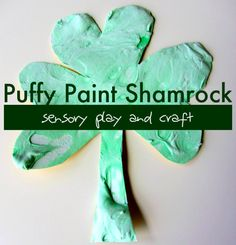 puffy paint shamrock - fun!