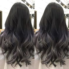 Ideas hair silver ombre balayage for 2019 Best Ombre Hair, Brown Ombre Hair, Ombre Hair Color, New Hair Colors, Cool Hair Color, Silver Ombre, Asian Ombre Hair, Ombre Hair For Asians, Asian Ash Brown Hair