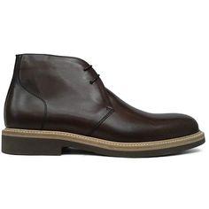 Zapato botín liso en color marrón de Paco Milán vista lateral