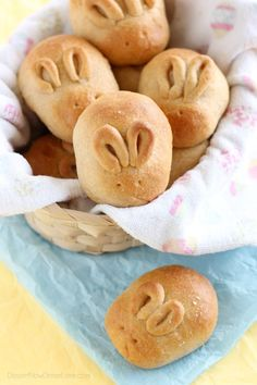 Fluffy Whole Wheat Bunny Rolls - Get the recipe and step-by-step photos on how to make these simple bunny rolls for your Easter dinner. | DessertNowDinnerLater.com