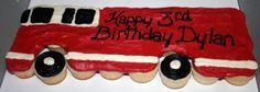 Fire truck cupcake c