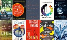 Some of the novels on the Man Booker prize longlist.