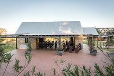 Wedding Chapel courtyard at Peppers Creek vineyard wedding venue in the Hunter Valley.