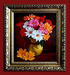 Bukiet kwiatów w dzbanku