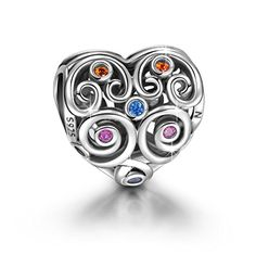 """Ninaqueen 925 Sterling Silver """"The Guard of Love"""" Heart-shaped Hollow Charm. NinaQueen of Paris is one of France's most popular designer brands. NinaQueen is especially popular among French men as an ideal gift for daughters, mothers, wives, and lovers. Each charm represents a beautiful dream, and each bracelet tells the story of a beautiful life!. Using the Diamond Standard of technology, a micro-painted enamel makes NinaQueen charms eye catching and rugged. All of the enamel process and…"""