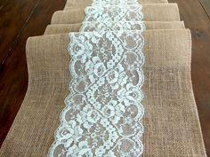 Wedding table runner rustic wedding tablecloth by HotCocoaDesign, $22.00