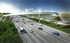 PUENTE PEATONAL SILAO, GUANAJUATO, MÉXICO.    La propuesta de este puente peatonal parte de crear un elemento protagonista en un paisaje carretero de muy pocas cualidades estéticas, de tal manera se opta por lanzar un lazo escultórico -banda de moebius desplegada- que cruza la carretera uniendo ambas partes y en su despliegue formal sostiene como trabe por medio de tensores una pasarela para el tránsito peatonal    Renders.    www.echaurimorales.com