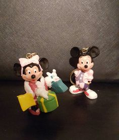 Mickey and Minnie Mouse Vintage Key chains. by CindysKorner