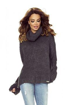 Gray  Turtleneck Jumper Long Sleeve European Fashion, Unique Fashion, Timeless Fashion, Womens Fashion, Cable Knit Sweaters, Street Fashion, Knitwear, Golf, Tricot