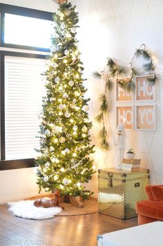 Its A White Diy Christmas Skinny Treepencil