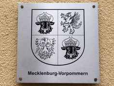Coat of arms of Mecklenburg-Vorpommern, Germany Germany And Italy, Coat Of Arms, World War Ii, Symbols, World War Two, Family Crest, Icons