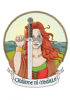 """Grainne Ni Mhaille by Aurelie-S Marker illustration -  October 2016  Grainne Ni Mhaille, also called Grace O'Malley, Gráinne, Granuaile, """"The Pirate Queen of Clew Bay"""" or """"The Sea Queen of Connacht"""" was a well-known 16th-century Irish chieftain and pirate."""
