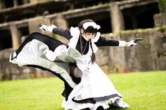 Action Pose Reference, Human Poses Reference, Pose Reference Photo, Action Poses, Fighting Poses, Aesthetic Japan, Anatomy Poses, Maid Outfit, Cosplay Anime