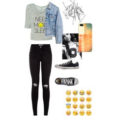 like if you use or like emojis ._. ♡<3 ;) by loverofeverything8infinite on Polyvore featuring polyvore fashion style Runwaydreamz Converse Casetify Monki