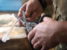 Raptor Shears The Leatherman Raptor shears features the necessary tools for uniformed medical professionals to safely and quickly go to work in an emergency situation. Developed with the input of special operations medics, EMTs and fire professionals familiar with standard medical...