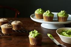 Black Sesame Cupcakes with Matcha Buttercream Recipe on Food52 recipe on Food52