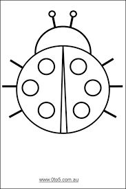 Image result for ladybird outline printable