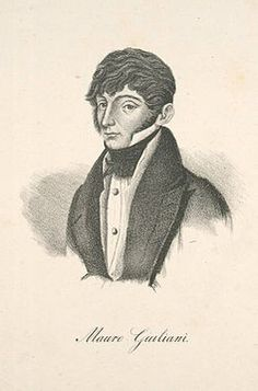 Mauro Giuseppe Sergio Pantaleo Giuliani (27 July 1781 – 8 May 1829) was an Italian guitarist, cellist, singer, and composer. He was a leading guitar virtuoso of the early 19th century