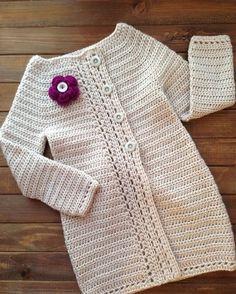 Выполнен на заказ 💜 // crochet cardigan for girl // Crochet Top Outfit, Crochet Baby Jacket, Crochet Baby Dress Pattern, Crochet Shirt, Baby Girl Crochet, Crochet Cardigan, Crochet Clothes, Knit Crochet, Baby Knitting