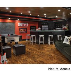A hand-sculpted collection inspired by rustic high-end visuals, the Avenues floor laminate offers a hickory look with great depth and color. Its surface texture, competes with chatter marks, creating
