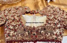 Gold Blouse, Purple Blouse, Saree Wedding, Wedding Blouses, Indian Blouse, Bridal Blouse Designs, Saree Look, Illusion Neckline, Red Blouses