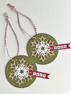 Personalized Snowflake Tags by Heather Nichols for Papertrey Ink (November 2015)