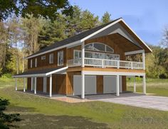 House Plan 039-00378 - A Traditional House Plan with a twist features approximately 1,876 square feet of space with 2bedrooms/2.5baths and an office or 3rd bedroom. The exterior is highlighted with three covered outdoor spaces and panoramic window views.