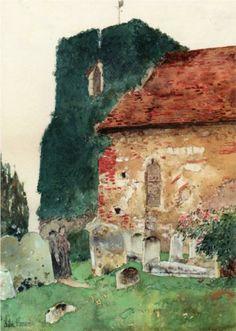 Canterbury - Childe Hassam/impressionism/landscape