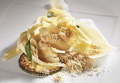 Heart of Palm Fettuccine, Popcorn Powder, Parmesan