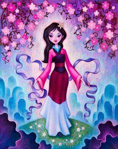 Disney Wonderground Gallery The Late Blossoms Print by Jeremiah Ketner Mulan Manga Disney, Disney Pixar, Disney E Dreamworks, Disney Animation, Walt Disney, Disney Fan Art, Disney Princess Art, Disney Artwork, Disney Love