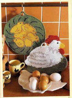 """"""" MOSSITA BELLA PATRONES Y GRÁFICOS CROCHET """": Hot Pad Crochet, Agarraderas maravillosas!!!"""