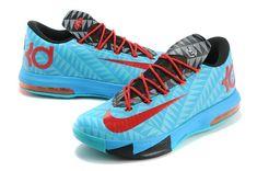 ad0f251a9ddb N7 KD 6 Aqua Red Total Orange Nike Kd Shoes