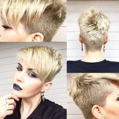 Neat Pixie haircut has always seems like the most daring and bold haircut idea for women. But it shouldn't have to be super short at all.Pixie Hairstyle Must Try The post Pixie haircut has . Girls Pixie Haircut, Short Pixie Haircuts, Girl Haircuts, Short Hair Cuts, Short Hair Styles, Pixie Cuts, Asymmetrical Pixie Haircut, Haircut Short, Funky Hairstyles