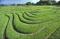 St.Catherine's Hill, Winchester, Hampshire  England  Medieval Unusaual 9 circuit design - similar to Reims Cathedral type, but square. Dates to late 1600's