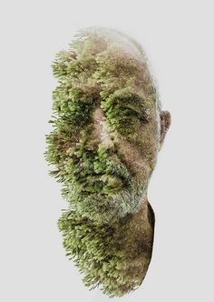 Nature Boy father, double exposure by photographer Alessio Albi, 2013
