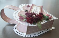 made by Annelie. Album Book, Make Your Own, How To Make, Pop Up Cards, Decoupage, Valentines Day, Craft Projects, Christmas Cards, Presents