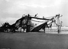 Crash: The Seine ran ashore in Perran Bay, Perranporth, Cornwall on December 28, 1900.