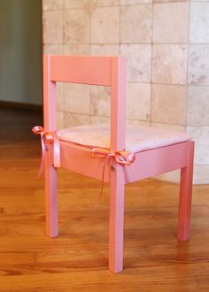 As we are updating our office we are making a little area for our girls to create and play! I am going to show you the entire Children's Ikea Latt Children's table in another post but when I was making over the table I thought the chairs just needed a little something extra, i.e. cute seat cushions!…