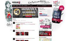 Red Bull Mobile - Sitebranding auf Szene1.at