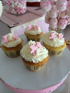 Sweet Dreams. Mesas de postre para bautizo. Mini Cupcakes